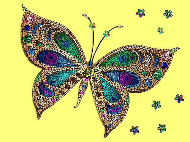Butterfly Mosaic Yellow  Free image on Pixabay