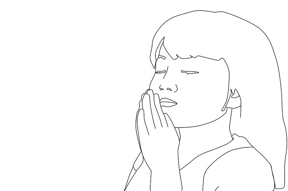Girl Praying Coloring Pages