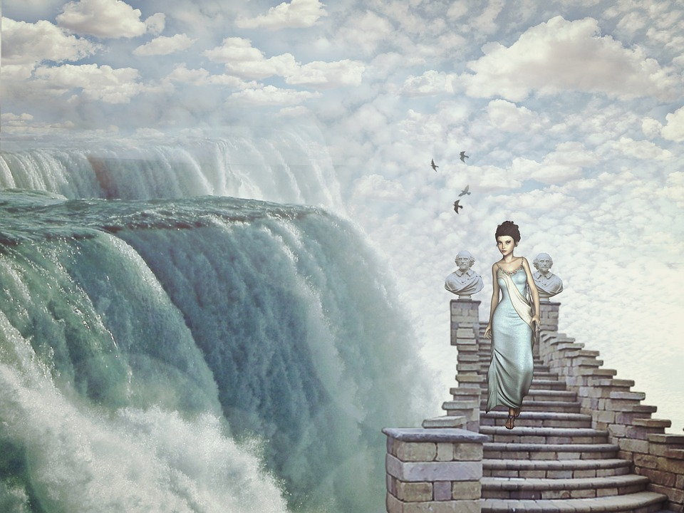 Power Girl Wallpaper Waterfall Fantasy Dream World 183 Free Image On Pixabay