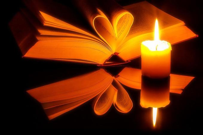 Book, Pages, Open, Heart, Book Pages, Novel, Candle