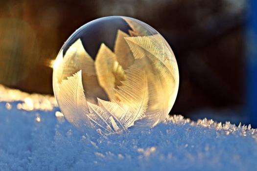 Bolla Di Sapone, Frost, Neve, Bolla, Eiskristalle