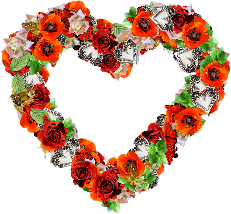 heart flowers png free