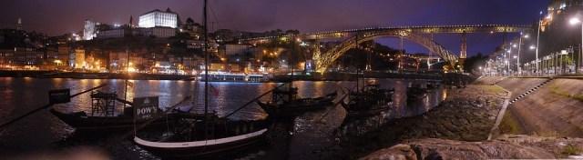 Porto, Portugal, Ponte, Douro, Noite, Cityscape, Marco