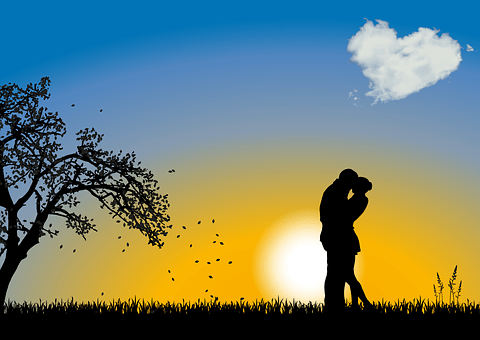 少し, 愛, グリーティングカード, バレンタイン・デー, ロマンチック, 一緒