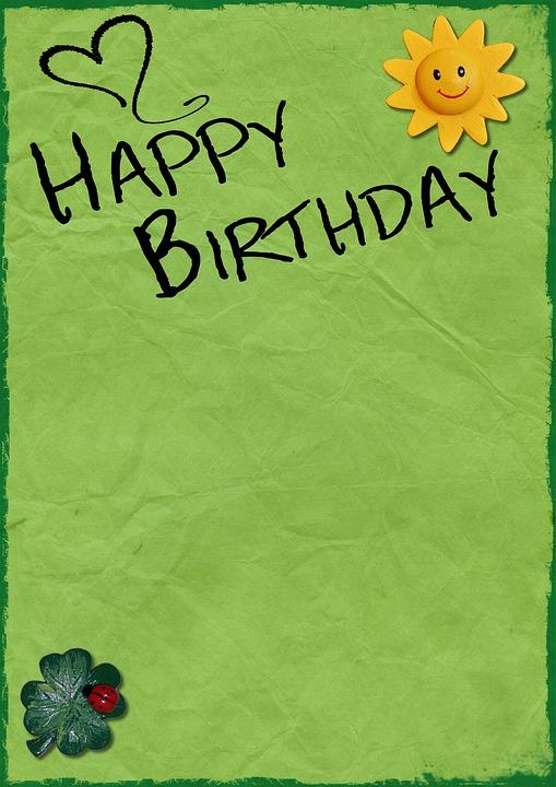 Birthday Background Card · Free Photo On Pixabay