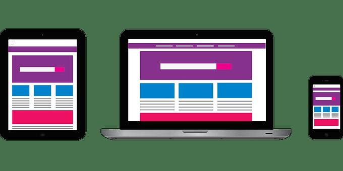 モバイルデバイス, ウェブサイト, モックアップ, Web, Web デザイン