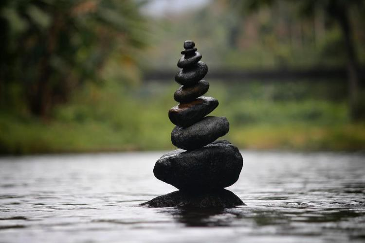 Pebbles, Balanced Pebbles, Water, Balance, Rock, Nature