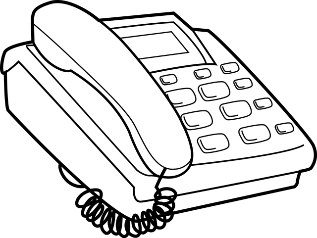 Black White Telephone Clipart