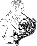 Free vector graphic French Horn Musical Instrument