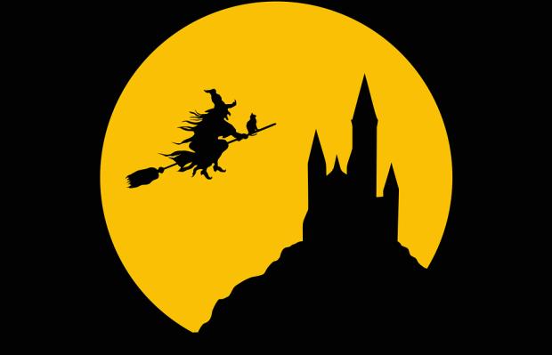 Castle, Cat, Evil, Female, Fictional, Flying, Full Moon