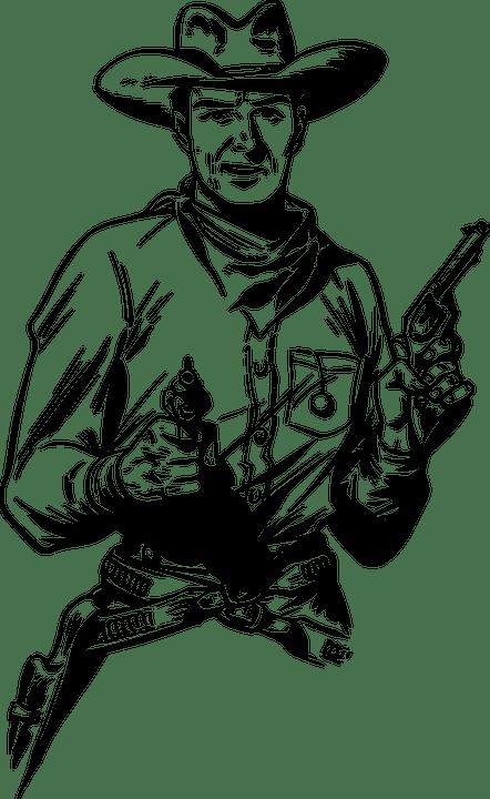 Cowboy Gun Guns · Free vector graphic on Pixabay