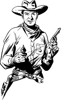 Topi Koboi Vector : koboi, vector, Cowboy, Vectors, Pixabay