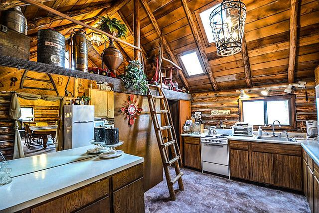 commercial kitchen door cabinet base free photo: log, cabin, rustic, home, interior - ...