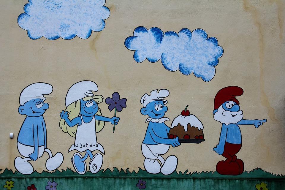 Pictura Pe Perete, Strumfii, Perete, Strada De Artă