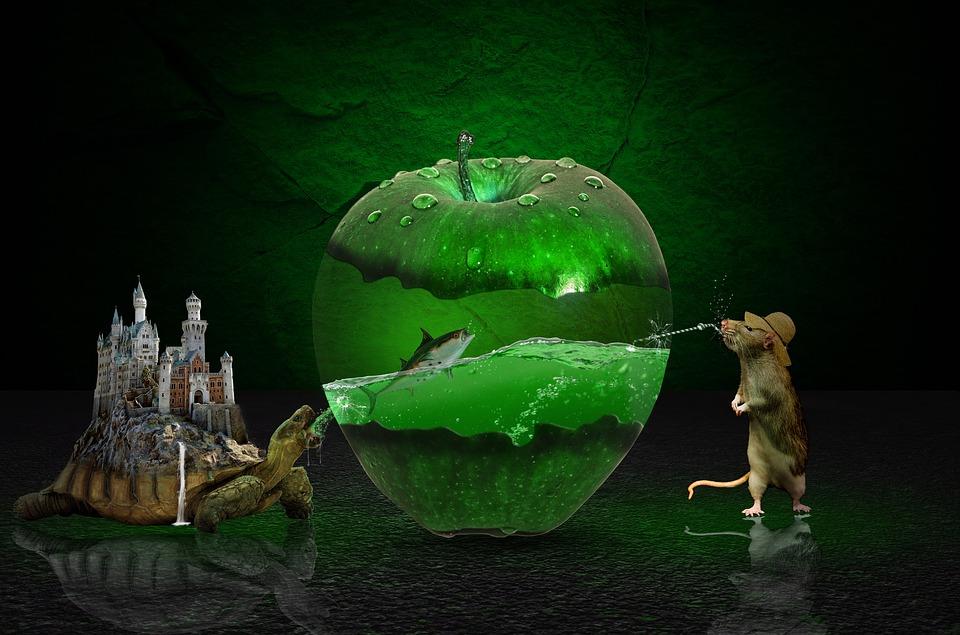 Free Fall Desktop Wallpaper Apple Green Photoshop Fantasy 183 Free Image On Pixabay