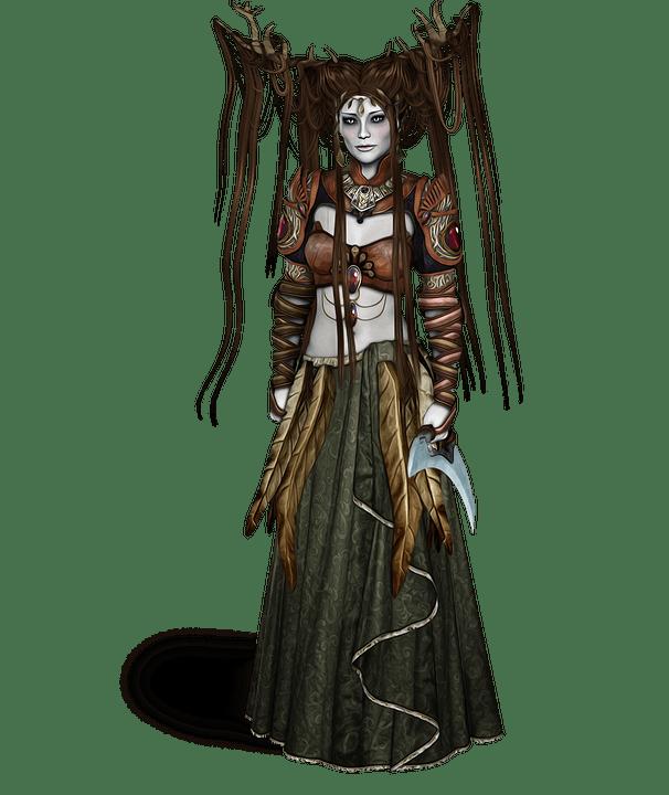 Girl Looking At Sky Wallpaper Elf Druid Fantasy 183 Free Image On Pixabay