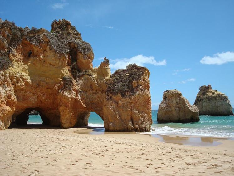 Portugal, Algarve, Mer, Roches, Côte, Plage