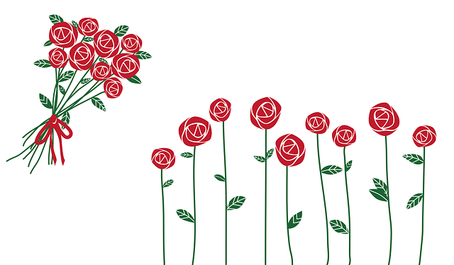 ValentineS Day Roses Bouquet  Free vector graphic on Pixabay