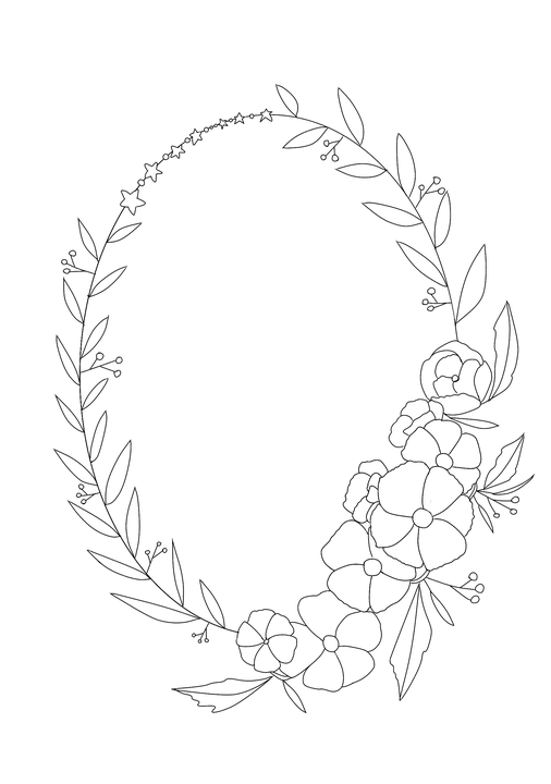 Olive Leaf Wreath Clip Art
