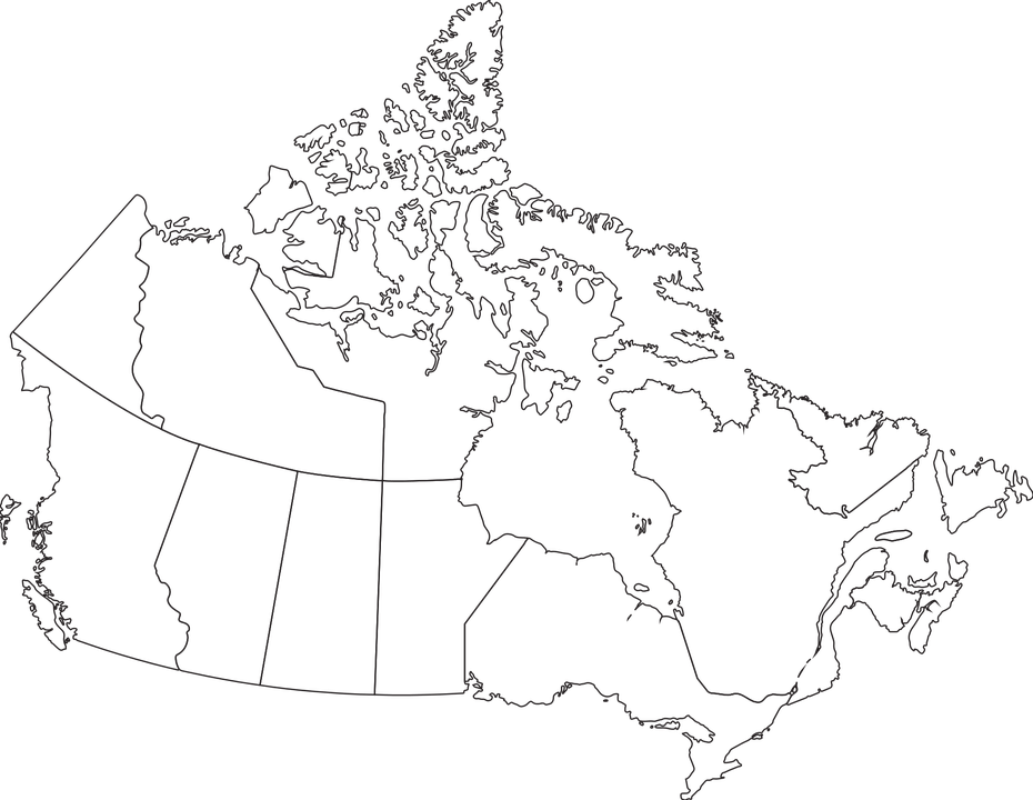 Map Canada Provinces · Free vector graphic on Pixabay