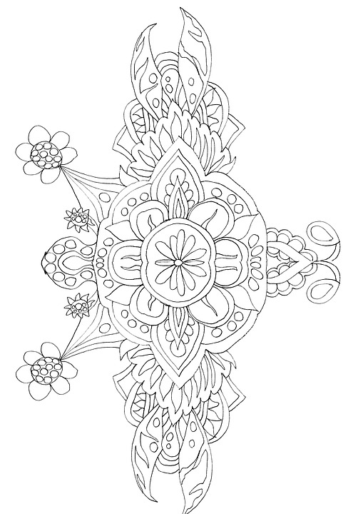 Free Illustration Adult Coloring Page Coloring Book
