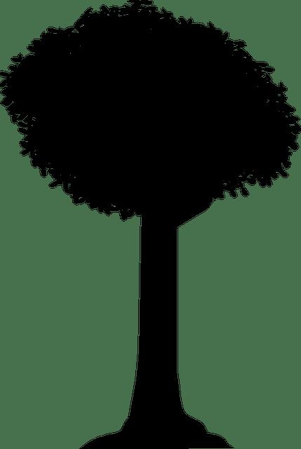Gambar vektor gratis Siluet Pohon Bayangan Vektor