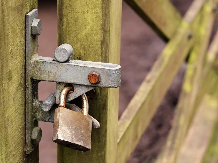 Zablokowany, Brama, Kłódka, Bezpieczeństwa, Zamknięte