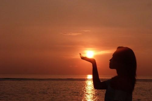 Sunrise, Girl, Bali, Sun