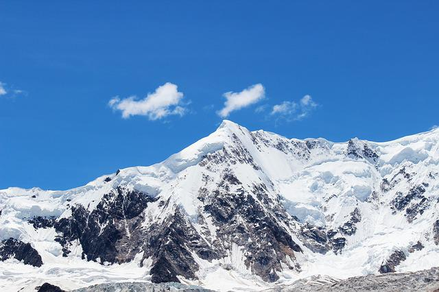 Blue Fall Wallpaper Blue Sky Snow Mountain 183 Free Photo On Pixabay