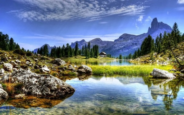 dolomites mountains lake free