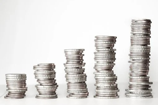 お金, 金タワー, コイン, ユーロ, € コイン, 正貨