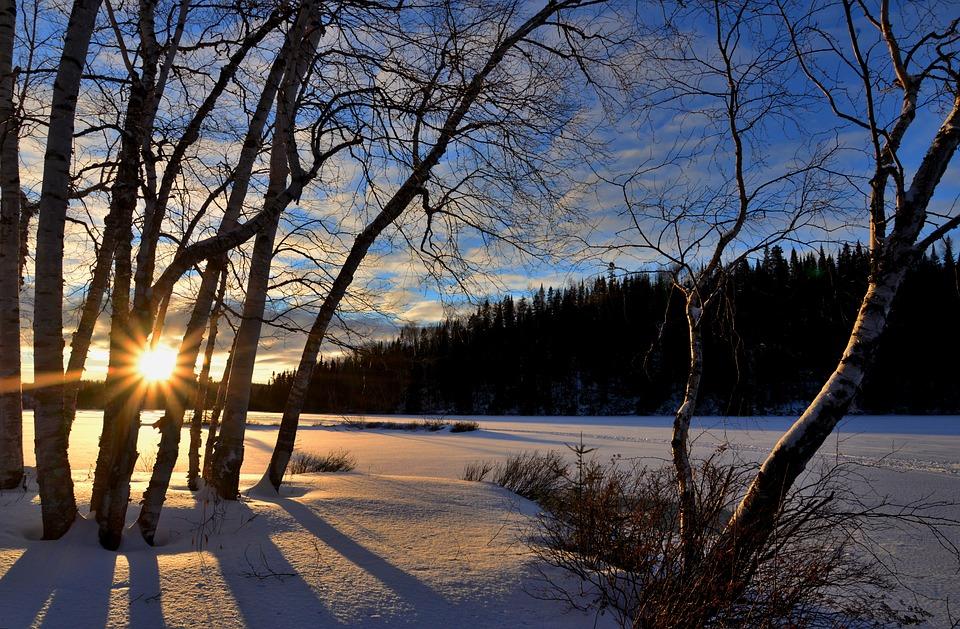 Winter Landscape Sunset Twilight  Free photo on Pixabay