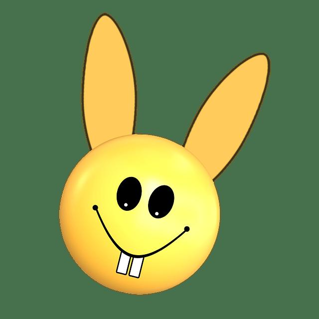 Gratis illustration Pske Smiley Smil Kanin  Gratis
