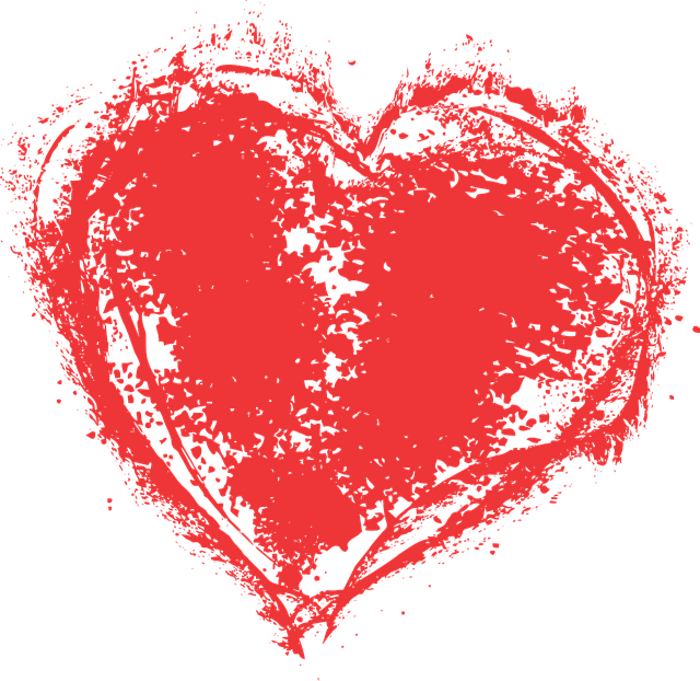 Heart Paint Splatter Grunge Free Vector Graphic On Pixabay