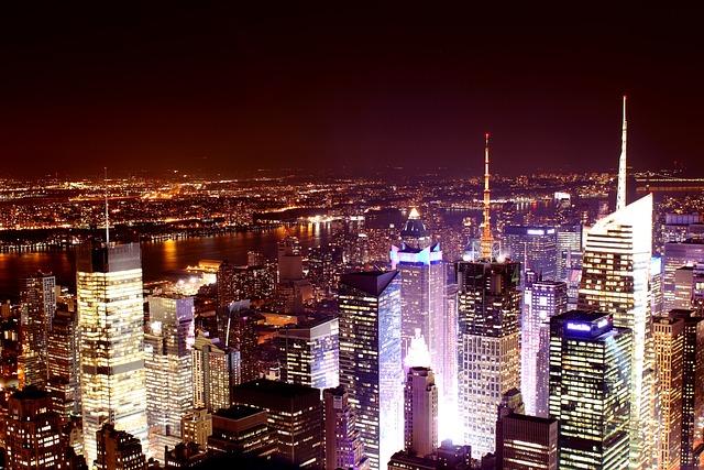New York Skyline Nacht  Kostenloses Foto auf Pixabay
