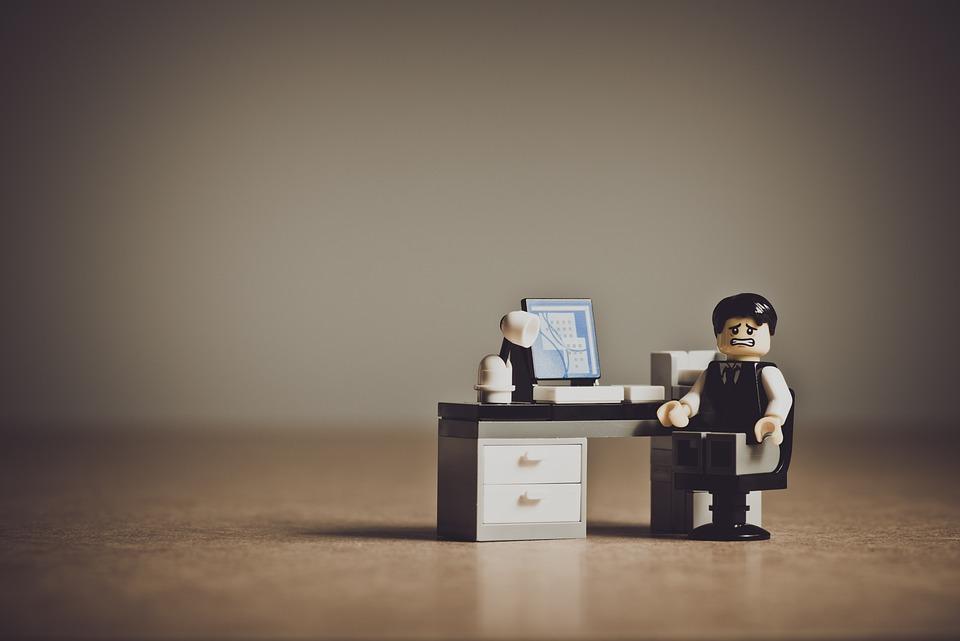絶望, 実業家, ビジネス, 失望, 欲求不満, 感情, レゴ, 小さな, おもちゃ, ミニ, ミニチュア