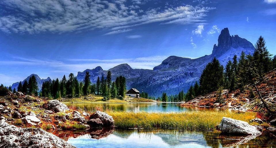 Dolomiten See Berge  Kostenloses Foto auf Pixabay