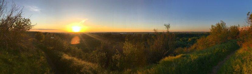 Panorama, Puesta De Sol, Cielo