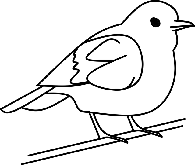 Bird Tree Out Line · Free vector graphic on Pixabay