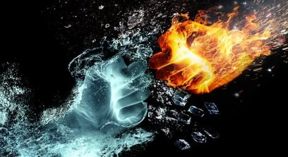 Fire And Water, Fight, Hands, Fire, Heat