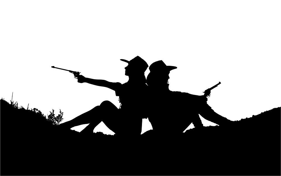 cowgirls silhouette western free