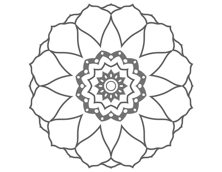 Coloring Page Flower Drawing Free Image On Pixabay