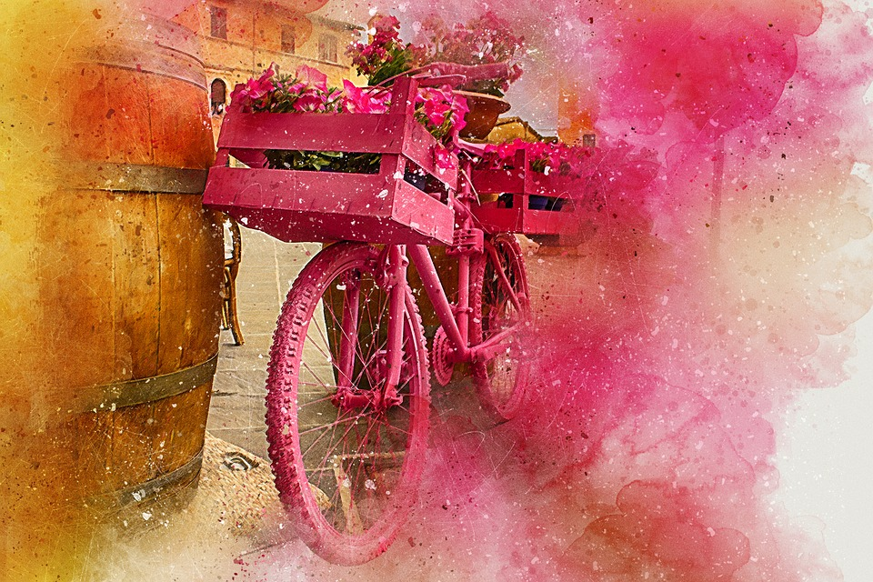 Bicicleta Flores Arte  Imagen gratis en Pixabay
