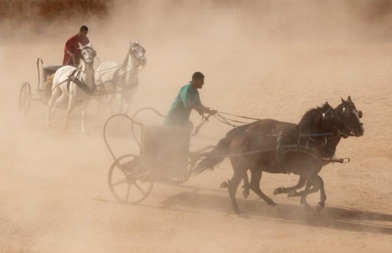 Chariot, Horse, Roman, Race, Reenactment, History