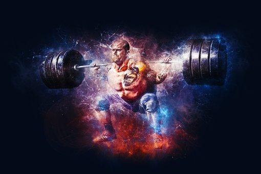 重量挙げ, パワー, フィットネス, ジム, いい結果, トレーニング
