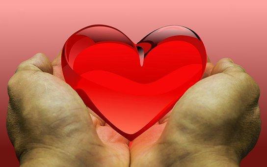 フィーリング, 愛, 心, 寄付, 感謝, ご