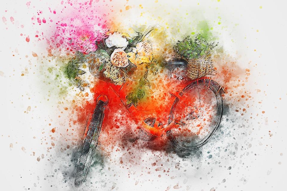 Bicycle Flowers Art  Free image on Pixabay