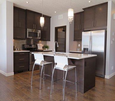 Kitchen, Counter, Fridge, Refrigerator