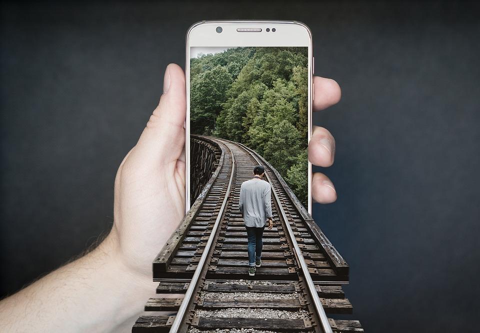 Manipulation Smartphone, Gleise, Run, Charming, Keep