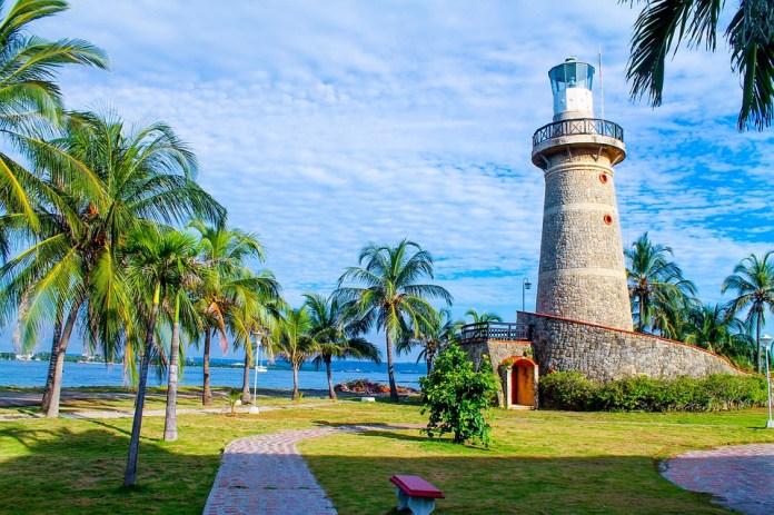Faro, Cartagena, Colombia, Azul, Verde, La Paz, Océano